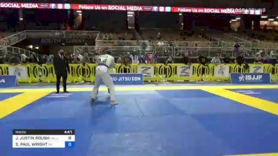 JAMES JUSTIN ROUGH vs STEPHEN PAUL WRIGHT 2021 Pan Jiu-Jitsu IBJJF Championship