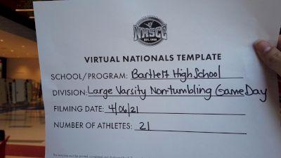 Bartlett High School [Virtual Game Day Large Varsity Finals] 2021 UCA National High School Cheerleading Championship