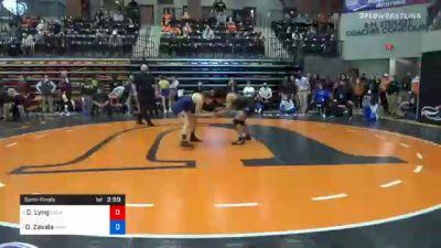 136 lbs Semifinal - Destiny Lyng, Oklahoma City vs Desiree Zavala, Wayland Baptist
