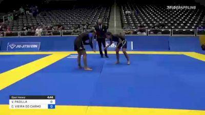 VANESSA PADILLA vs CAROLINA VIEIRA DO CARMO MASSOT 2021 World IBJJF Jiu-Jitsu No-Gi Championship