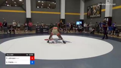 74 kg Prelims - Dajun Johnson, Panther Wrestling Club RTC vs Derek Fields, Arsenal Wrestling Club