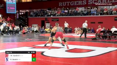 157 lbs Quarterfinal - Michael VanBrill, Rutgers vs Ryan Deakin, Northwestern