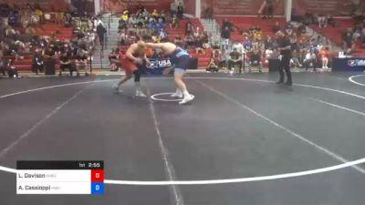 125 kg Prelims - Lucas Davison, Wildcat Wrestling Club vs Anthony Cassioppi, Hawkeye Wrestling Club