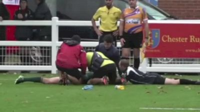 Dylan Sage Knocked Out Of Game After Massive Collision