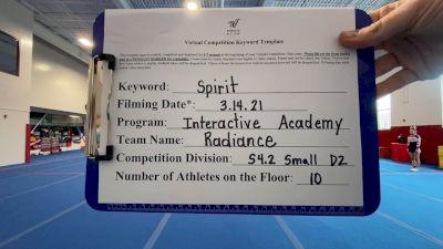 Interactive Academy - Radiance [L4.2 Senior - D2] 2021 PacWest Virtual Championship