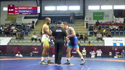 87 kg Semifinal - Ronisson Brandao Santiago, Brazil vs John Walter Stefanowicz Jr, United States