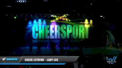 Cheer Extreme - Kernersville - Lady Lux [2021 L6 International Open - NT Day 1] 2021 CHEERSPORT National Cheerleading Championship