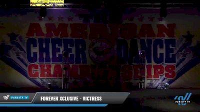 Forever Xclusive - Victress [2021 L3 Senior - D2 - Small Day 2] 2021 The American Celebration DI & DII