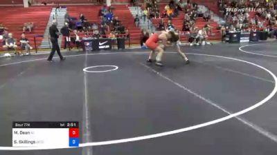 79 kg Consolation - Mitch Dean, North Carolina vs Samuel Skillings, Gopher Wrestling Club - RTC