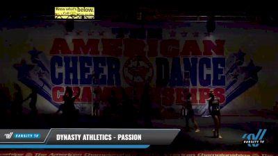 Dynasty Athletics - Passion [2021 L2 Junior - D2 - Small Day 1] 2021 The American Celebration DI & DII