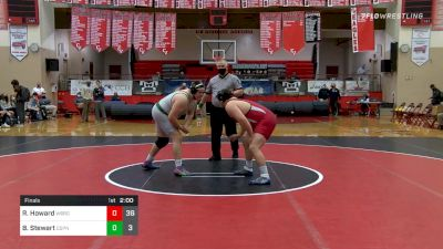 285 lbs Final - Ryan Howard, Waynesburg vs Ben Stewart, Central Dauphin