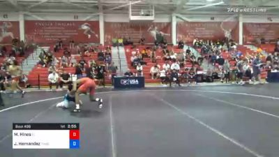 61 kg Prelims - Malyke Hines, Florida vs Jaime Hernandez, Tar Heel Wrestling Club