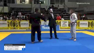 ALEXANDRE FARIA MOLINARO vs GUILHERME WILSON S. CORDIVIOLA 2020 American National IBJJF Jiu-Jitsu Championship