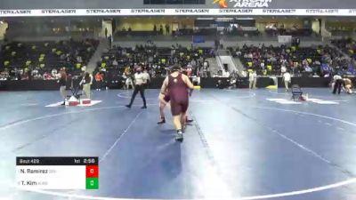 285 lbs Quarterfinal - Nico Ramirez, Southern Virginia University vs Tyler Kim, Augsburg University