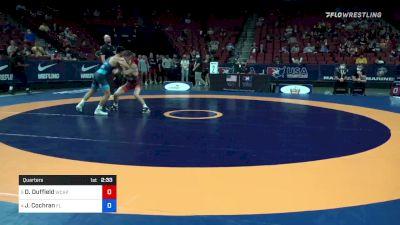 55 kg Quarters - Dalton Duffield, Army (WCAP) vs Jacob Cochran, Florida