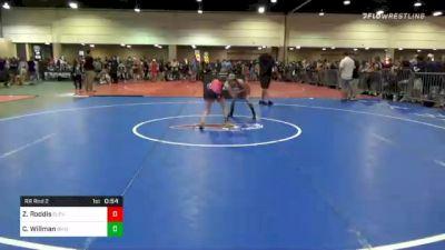 70 lbs Prelims - Zoe Roddis, Cleveland Warrior Mat Club vs Calliope Willman, Ohio