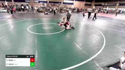 120 lbs Consi Of 32 #2 - Kade Babb, Dog Pound Wrestling vs Chase McInt, Poway
