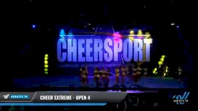 Cheer Extreme - Open 4 [2021 L4 International Open Coed Day 2] 2021 CHEERSPORT National Cheerleading Championship
