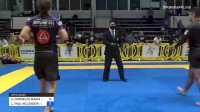 ARTHUR DORNELES MARIATH vs LEWIS PAUL MCLENDON 2021 Pan IBJJF Jiu-Jitsu No-Gi Championship