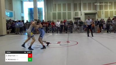 Prelims - Zach Sherman, North Carolina vs Kelan McKenna, Notre Dame College