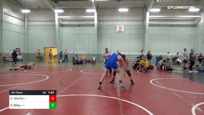 220 lbs 5th Place - Cain Warfel, SU vs Peter Riley, WA