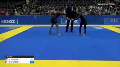 SARAH TAKUSHI vs BRIANNA STE-MARIE 2021 World IBJJF Jiu-Jitsu No-Gi Championship