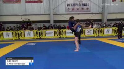DANIELA DE SOUZA vs SARAH ANN TORREGROSSA 2021 Pan IBJJF Jiu-Jitsu No-Gi Championship
