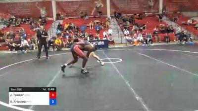 70 kg Quarterfinal - Jacori Teemer, Sunkist Kids Wrestling Club vs Anthony Artalona, Pennsylvania RTC