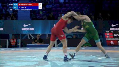 72 kg Repechage #2 - Haavard Joergensen, Norway vs Kristupas Sleiva, Lithuania