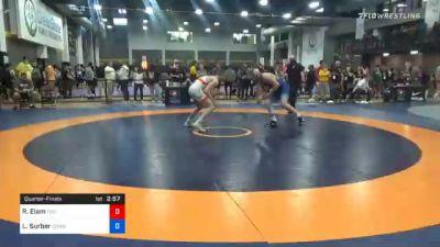 92 kg Quarterfinal - Rocky Elam, Tiger Style Wrestling Club vs Luke Surber, Cowboy RTC