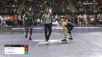 157 lbs Quarterfinal - Kendall Coleman, Purdue vs AC Headlee, North Carolina