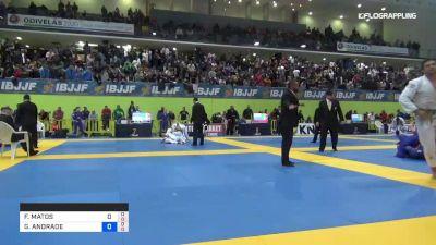 FERNANDO MATOS vs GUILHERME ANDRADE 2019 European Jiu-Jitsu IBJJF Championship