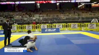 ISAAC JOSIAH GARRETT vs LUIS FERNANDO DE SOUZA CARVALHO 2021 Pan Jiu-Jitsu IBJJF Championship