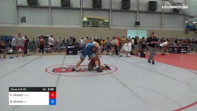 97 kg Consi Of 8 #1 - Kobe Woods, Wartburg vs Brandon Streck, Indiana