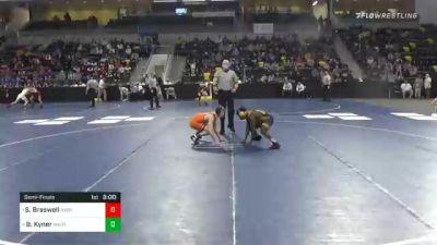 125 lbs Semifinal - Samuel Braswell, Averett University vs Brady Kyner, Wartburg College