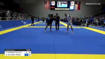 PEDRO HENRIQUE DE OLIVEIRA E SIL vs MICHAEL ANTHONY PEREZ 2021 World IBJJF Jiu-Jitsu No-Gi Championship