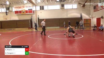 149 lbs Consolation - Kollin Myers, Lock Haven vs Daniel Fongaro, Not Rostered