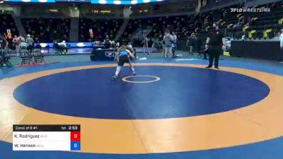 61 kg Consolation - Kyler Rodriguez, New Jersey vs Wyatt Henson, BullTrained Wrestling