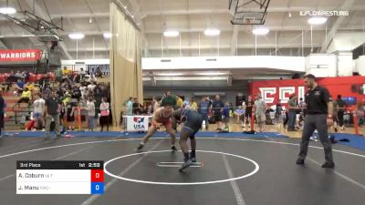 92 kg 3rd Place - Austin Coburn, Va Team Predator vs Joshua Manu, Navy-Marine Corps Regional Training Center