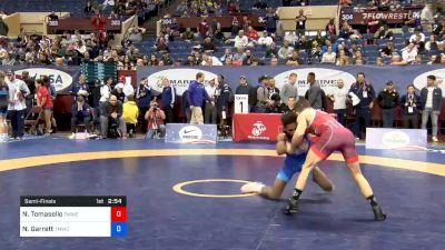 57 kg Semifinal - Nathan Tomasello, Titan Mercury Wrestling Club vs Nahshon Garrett, Titan Mercury Wrestling Club