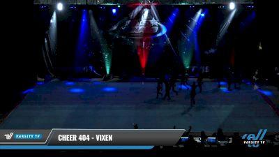 Cheer 404 - ViXen [2021 L4 Junior - D2 - Small Day 1] 2021 The U.S. Finals: Pensacola