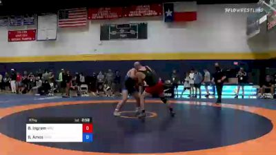 97 kg Quarterfinal - Bryan Ingram, Arizona vs Braxton Amos, Wisconsin Regional Training Center