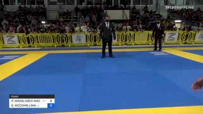 PATRÍCIA MAGALHÃES MACHADO vs GABRIELLE MCCOMB LIMA 2021 Pan IBJJF Jiu-Jitsu No-Gi Championship