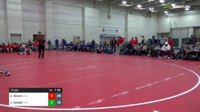 160 lbs Final - Chase Brock, Missouri United (M) vs Jokiah Sewell, IKWF Gold (M)