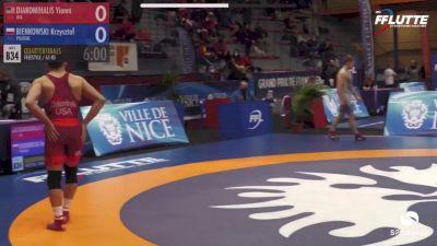 65 kg Quarterfinal - Yianni Diakomihalis, USA vs Krzysztof Bienkowski, Poland