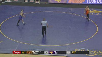 157 lbs - Wyatt Sheets, Oklahoma State vs Cayd Lara, UNI