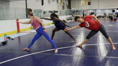 Yoga With Tamyra, Adeline And Hilderbrandt