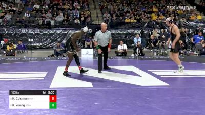 157 lbs Semifinal - Kendall Coleman, Purdue vs Kaleb Young, Iowa
