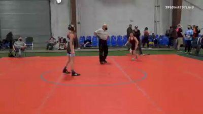 75 lbs 3rd Place - Grey Henecker, Scorpions vs Peggy Susan Dean, Chicks Wrestling