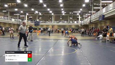 Semifinal - Brandon Loperfido, Lock Haven Unattached vs Seth Koleno, Clarion-Unattached